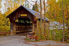 small New England covered bridge