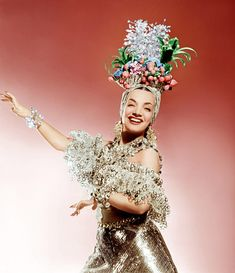 I'm in love with the joyful style and voice of Carmen Miranda