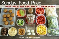 *Time management at it's best!* Looking for ways to get more healthful eating into your life? Start prepping your food for the week. This blogger shares how they eat much healthier by doing this.