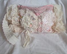 Shabby Romantic Clutch handmade lacy romantic by TatteredDelicates