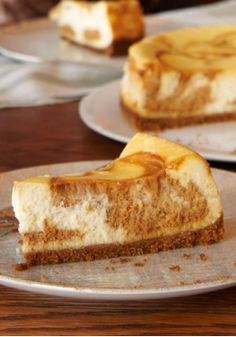 Dulce de Leche Swirl Cheesecake – This easy dessert recipe only takes 15 minutes to prepare! A fantastic way to end your next dinner party.