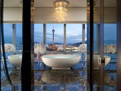 Presidential Suite Bathroom at the Mandarin Oriental Hotel in Macau