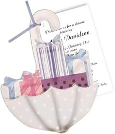 It's Raining Gifts Die-Cut Invitations