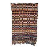 --Vintage Moroccan Rag Rug-- Size: 5'5 x 8'3