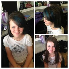 Blue peekaboo highlights
