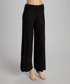 Another great find on #zulily! Black Palazzo Pants by POPULAR BASICS #zulilyfinds