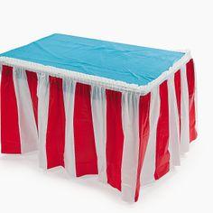 red, carniv parti, centerpiec, tabl skirt, skirt 599