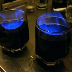 Homemade flaming shots