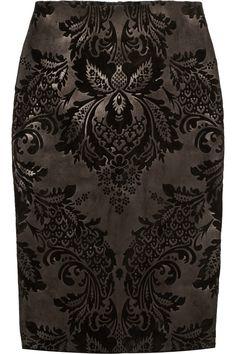 Gucci | Flocked suede pencil skirt | NET-A-PORTER.COM