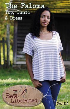 Sew Liberated Paloma Women's Top, Tunic, and Dress Sewing Pattern