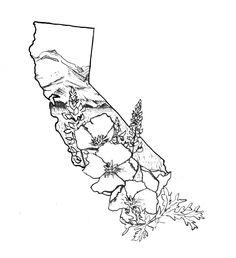 California Tattoo Design - Megan Kathleen Udell
