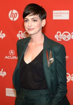 "Anne Hathaway attends the Sundance premiere of the movie ""Song One."" (Steve Griffin  