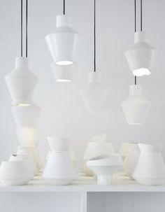 Ceramic Lamps by Iina Vuorivirta #VenturaLambrate #design : http://www.archello.com/en/collection/expanding-boundaries-design-ventura-lambrate-2014