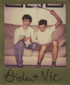 Aidan Ledward and Vic Van Der Well at Elite Models London. Instant Analogue by Cecilie Harris.