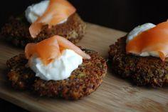 asparagus and goat cheese quinoa patties (sans smoked salmon)