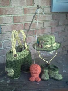 Daddy's Lil' Fisherman Photo Prop set MADE by RavensCraftCreations, $85.00