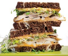 Turkey Sandwich with Sweet Potato Hummus