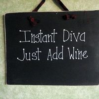 Wood sign for wine lover