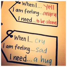 I am SO happy to see this being TAUGHT!!!!Teaching kids how to express/deal w feelings. Doesn't have to be scary. Good for adults too! Check out The Play Lady blog for therapeutic play activities.