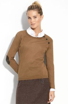 Halogen Elbow Patch Sweater. So cute