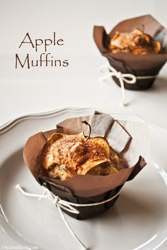 Apple Muffin Recipe  |  TheCakeBlog.com