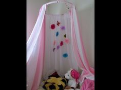 How to make a Canopy Tent Craft DIY No Sew Kid's Canopy Play Tent - YouTube