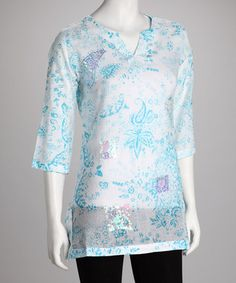 Show Stoppers: Blue & White Paisley Tunic