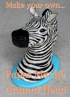 #DIY Tutorial – Paper Mache Animal Heads #Crafts