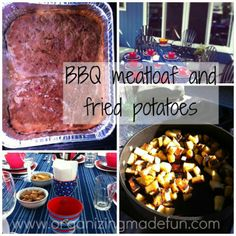 BBQ Meatloaf and Fried Potatoes