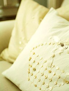 The Small Things - button pillow