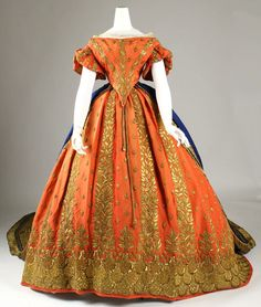costum, italian court, histor fashion, courts, 19th century, court dress, victorian fashion, bright colors, court gown