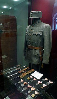 Austrian infantryman, field uniform, 1918