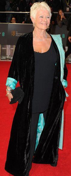 ... carpets style icons dame judy dench judi dench 2014 bafta age grace