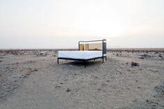 younghwan shin, gold reflect, beds, headboard bed, design
