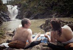 A romantic picnic at Big Rock Falls, Belize