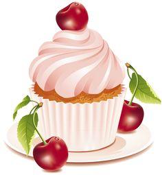 Cherry Cupcake Art... <3 #Cherrycake #Cupcake