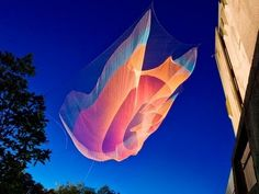 Janet Echelman: Taking imagination seriously ~rejected from 7 art schools. Echelman now creates sculptures as big as skyscrapers using netting and technology.