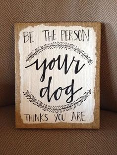 Dog Quote burlap canvas on Etsy, $39.00