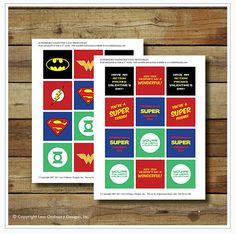 Free Superhero Printable Stickers