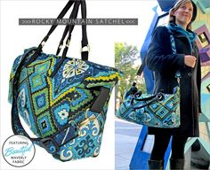 Rocky Mountain Satchel: Waverly World | Sew4Home
