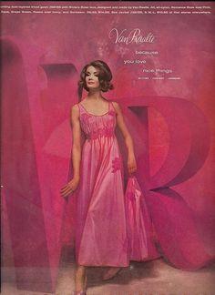 1950s Van Raalte Peignoir Set vintage lingerie, favorit color, van, lingeri lookielook, lingeri advertis, vintag lingeri, favorit vintag, color pink, lingeri maker