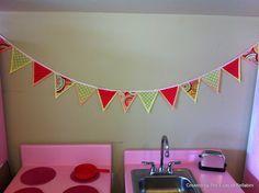 DIY: No sew fabric bunting