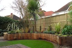 A contemporary garden design in Stanwell