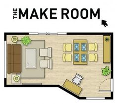 The Make Room - online tool to plan furniture placement. Also try www.floorplanner.com
