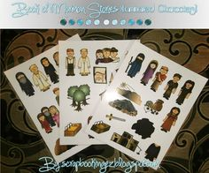 Laminated or Flannel Board Characters for Book of Mormon Stories