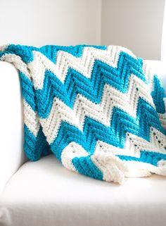 ?DIY Crochet chevron quilt.