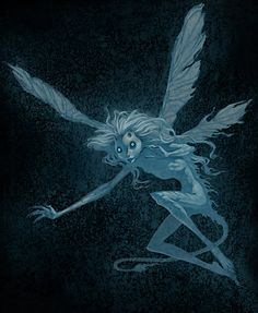 artist unknown, elv pixi, fantasi, fae, brom art, dark art, gerald brom, bromart, dark fairi