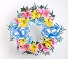 Artificial Tiger Lily Wreath