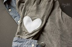 Heart Elbow Patches | Hey Love Designs