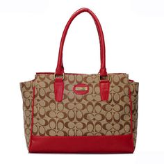 Life Will Be Perfect With Coach Legacy Candace In Signature Medium Red Satchels ARE! Come On!